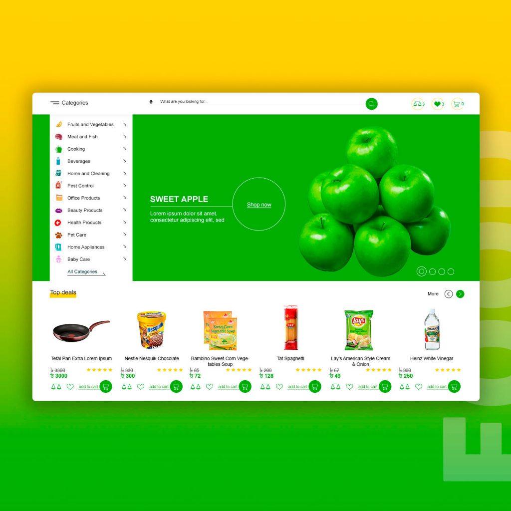 UX food market